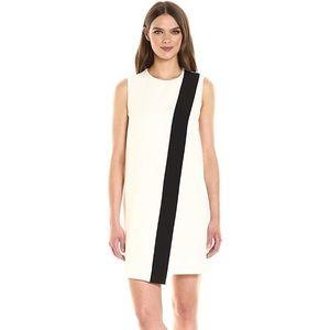 Anne Klein Bi-Color Overlap Shift Dress